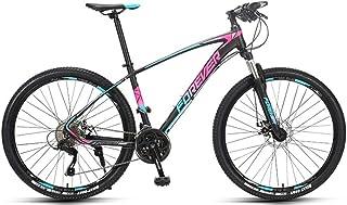 自転車 バイク、27.5インチマウンテンバイク、27スピード自転車、超軽量アルミニウム合金フレーム付き、大人とティーンエイジャー向け、取り付けが簡単、さまざまな地形に適応