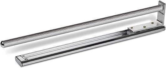 2 stuks SOTECH enkele handdoekhouder, aluminium verchroomd, uitschuifbaar van 440 tot 727 mm, voor wandmontage