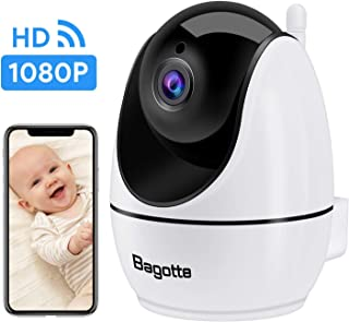 WiFi Camera, IP Camera Bagotte 2020 New Upgraded 1080P FHD Indoor Security Camera 2-Way Audio, Motion Detection, Night Vision for Pet Camera, Baby Camera