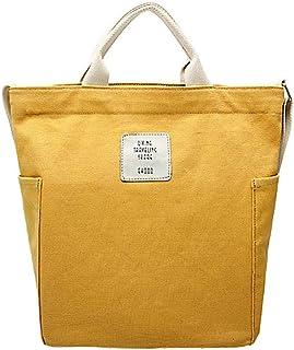 Krisimil Schulterhandtaschen für Damen Canvas Bag Große Lunchbag Weekender lässige Strandtasche Outdoortasche