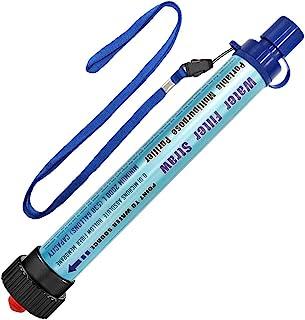 DeFe Filtre Eau Personnel 2000L Système de Filtration d'Eau Élimine 99,9% des Bactéries Filtre à 0,01 Microns Paille Eau P...