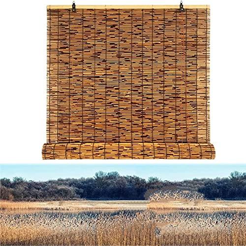 ZCED tonalità di bambù per Il Patio,Anti-UV Traspirante Patio Shades Roll Up Outdoor, Protezione della Privacy Tende di bambù per Windows, Facile da Installare,95x150cm 37x59in