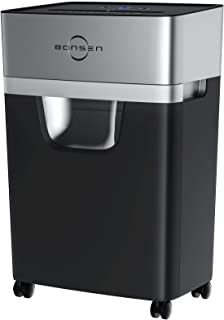 Paper Shredder, 15-Sheet Cross-Cut BONSEN High Security Credit Card Shredder with 5.3 Gallons Pull-Out Wastebasket and 4 C...