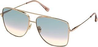 Tom Ford REGGIE FT 0838 Shiny Rose Gold/Green Blue Shaded 61/14/140 women Sunglasses