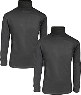 Beverly Hills Polo Club Boy's Basic Long Sleeve Solid Turtleneck (2 Pack)