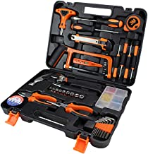 Hand Tool Household Tool Kits Home Repair Tool Set Carbon Steel Tool Box Durable Updated Practical for Car Home Auto Repai...