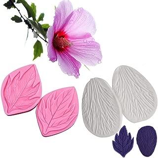 AK ART KITCHENWARE Gum Paste Flower Veining Molds Hibiscus Petal Veiners Leaf Fontant Mold Cake Decorating Supplies Bakery Tools