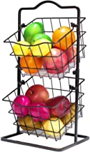 Fruit Basket for Kitchen 2 Tier Produce Storage Holder for Countertop Metal Multipurpose Rack for Veggies, K-cup, Potato, ...