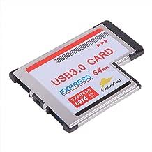 Hanerdun 2 Port USB 3.0 54mm Express Card NEC Chipset Adapter Converter Card Superspeed