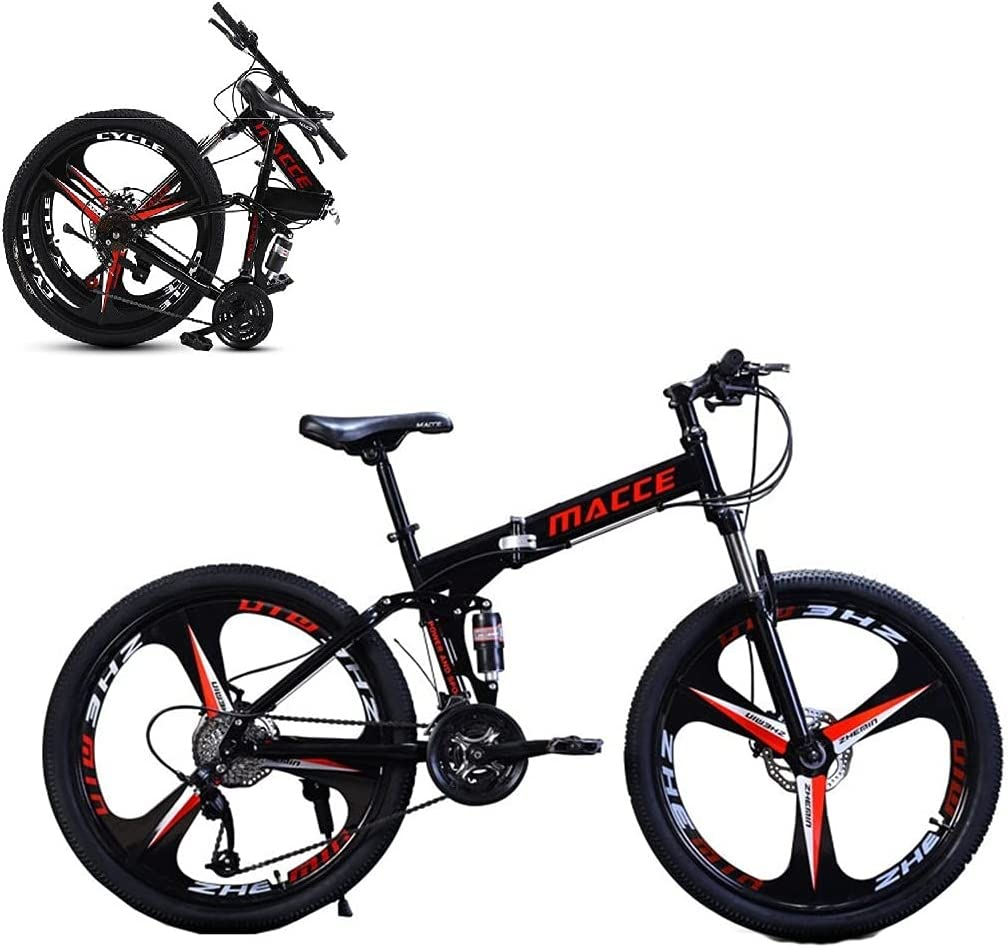 San Antonio Mall 24 26In 4 years warranty Foldable Bicycle Mountain Bike - Sp High Steel 21 Carbon