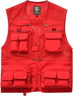 Vest Fashion vest Men's vest Comfort Coat (Color : Red, Size : XL)