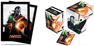 BUNDLE: Magic: the Gathering - MTG Magic Origins Planeswalker Nissa Revane (Deck Box & 80 Sleeves)