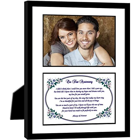 7x15 ENGAGEMENT1st ANNIVERSARY Poetry /& Photo Frame ~ Wonderful Gift for the Newly Engaged or 1st Wedding Anniversary Couple Keepsake Frame