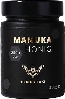 maorika - Manuka Honig 250 MGO  250g im Glas lichtundurchlässig, kein Plastik - laborgeprüft, zertifiziert aus Neuseeland
