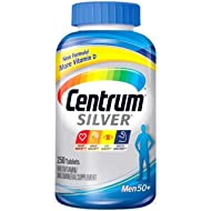Centrum Silver Men Multivitamin/Multimineral Supplement Tablet, Vitamin D3, Age 50+ (250 Count)
