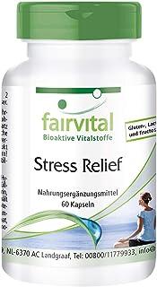 Stress Relief - Cápsulas Antiestrés - Multivitamínico con Vitaminas B y C + Aminoácidos + Zinc + Selenio + Ginseng y Resveratrol - Dosis elevada - 60 Cápsulas - Calidad Alemana