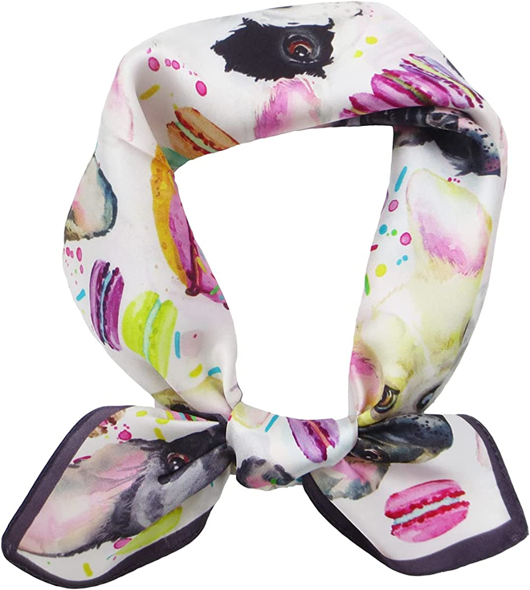 Women's 100% Pure Mulberry Manufacturer direct delivery Silk Scarf Neckerchief Square Max 44% OFF - Small