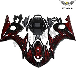 NT FAIRING Red Flamesk Injection Mold Fairing Fit for Yamaha YZF 2003-2005 R6 & 2006-2009 R6S New Painted Kit ABS Plastic Motorcycle Bodywork Aftermarket