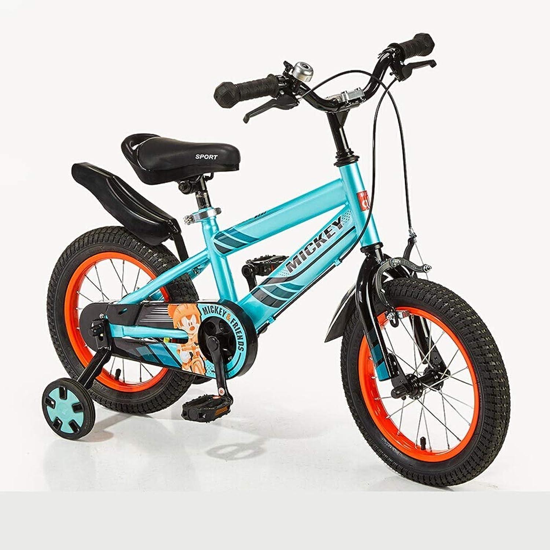 Garantía 100% de ajuste ZLMI Bicicletas para Niños, Niños, Niños, Niños y niñas Bicicletas de Cuatro Ruedas Bicicletas de 12 Pulgadas con Ruedas auxiliares para Niños de 3-6 años  ventas en linea
