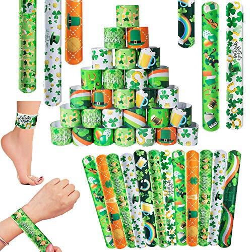 SPECOOL St Patrick's Day Decoration, 50Pcs Pulsera Bofetada, para Irish Party Favor for Party, Parade or Celebration Decoration (Type 1)