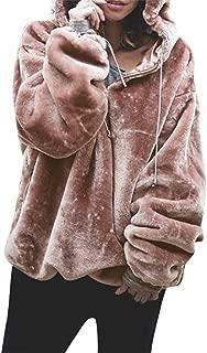 Women's Hoodies, FORUU Fluffy Sweater Warm Outwear Long Sleeve Hooded Sweatshirt Oversize Coat