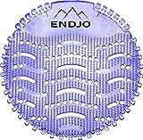 ENDJO Premium Urinalsieb - Spritzschutz und Frischeduft nach Lavendel mit Kalenderfunktion in der Herrentoilette, Urinaleinlage passend für jedes Urinal oder Pissoir - Lila, 2 Stück
