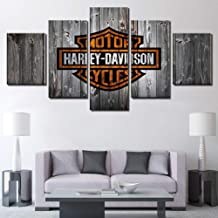 Cuadro En Lienzo,ImpresióN De 5 Piezas Material Tejido No Tejido ImpresióN ArtíStica Imagen GráFica Decoracion De Pared Póster Harley Davidson Motorcycle Bike,Withoutframe-20×35×2+20×45×2+20×55×1