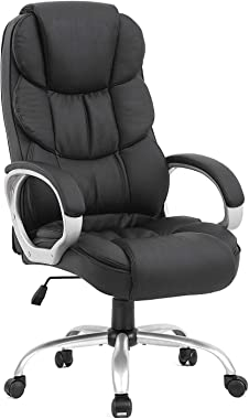 Ergonomic Office Chair Desk Chair Computer Chair with Lumbar Support Arms Executive Rolling Swivel PU Leather Task Chair for