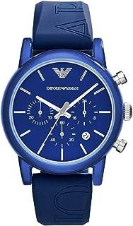 Emporio Armani Classic Men's Blue Dial Silicone Chronograph Watch - AR1058