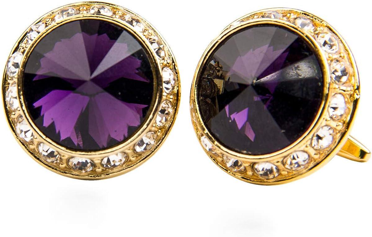 Vittorio Vico Round Colored Crystal Cla Diamond Set Many popular brands by Many popular brands Cufflinks