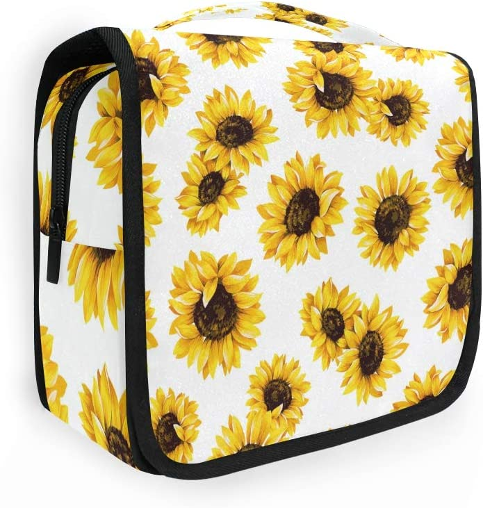 OMBRA Regular dealer National products Travel Toiletry Bag Farm Pattern Cosmetic Organi Sunflower