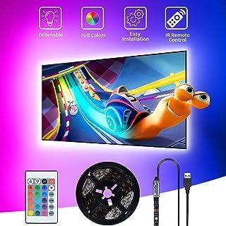 Tiras LED USB 3M,SHOPLED SMD 5050 Luz de fondo de TV led para iluminación de RGB de 40-60 Pulgada LED para HDTV, pantalla ...