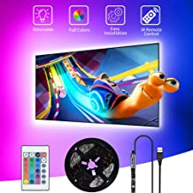 SHOPLED TV LED Backlight, 9.8ft USB Powered RGB Strip Lights Kit for 40-60 inch TVs, Monitor Backlight Lighting Kit for HD...