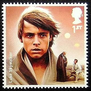 Luke Skywalker Star Wars UK -Handmade Framed Postage Stamp Art 0255