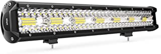 Nilight 18024C-A 420W 20Inch Triple Row Flood Spot Combo 42000LM Bar Driving Boat Led Off Road Lights for Trucks,2 Years Warranty