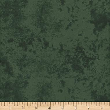 Mook Fabrics Flannel Snuggy Marble FR Fabric, Green, Fabric By The Yard
