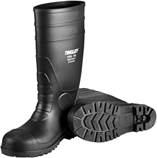 Tingley 31251.05 Pilot 15-in Cleated Steel Toe Knee Boot, Size 5, Black