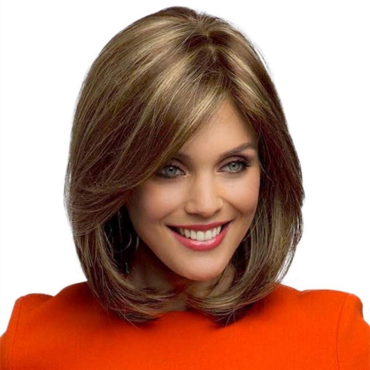 競うレンジほぼSummerys ボブウィッグショートストレート人工毛フルウィッグナチュラルに見える耐熱性女性用