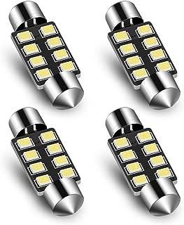 Audak Festoon LED Bulb 39mm 2835 8SMD Canbus Error Free Fit for Interior Dome Map Lights Door Courtesy Lights Trunk Lights License Plate Lights (Pack of 4)