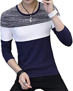 [アミュオン] Tシャツ メンズ 長袖 薄め ロングスリーブ 先染め 綿