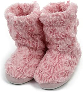 Forfoot Slippers Womens Indoor Slipper Boots for Ladies Girls with Knitted Upper and Bow
