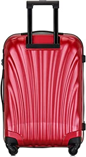 "SRY-Luggage PC Durable Convenient Trolley Case, Shell Creative Suitcase, Wheel Travel Rolling Boarding, 20"" 24"" Inches Carry on Luggage (Color : Red, Size : 24inch)"