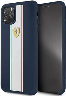 CG Mobile Ferrari Fespihcn65Na On Track & Stripes Silicon Case for iPhone Pro Max (Navy)