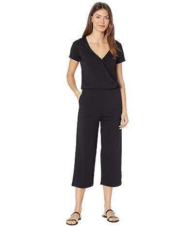 tentree Blakely Short Sleeve Knit Jumpsuit (Meteorite Black) Women