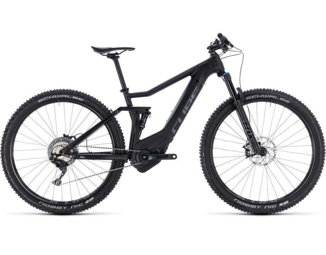 Bicicleta con asistencia eléctrica cubo Stereo Hybrid 120 HPC Race 500 Black n Grey 27.5 2018 – 18