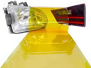 LinkedGo Self Adhesive Golden Yellow Gloss Vinyl Headlight Foglight Tail Tint Wrap (12