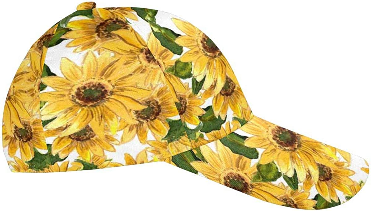 InterestPrint Sunflowers Lavenders Flowers Adjustable Unisex Men Women All Over Print Dad Caps Classic Baseball Hats