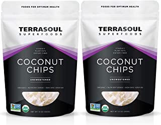 Terrasoul Superfoods Raw Coconut Chips (Organic), 1.5 Lbs (2 Pack)