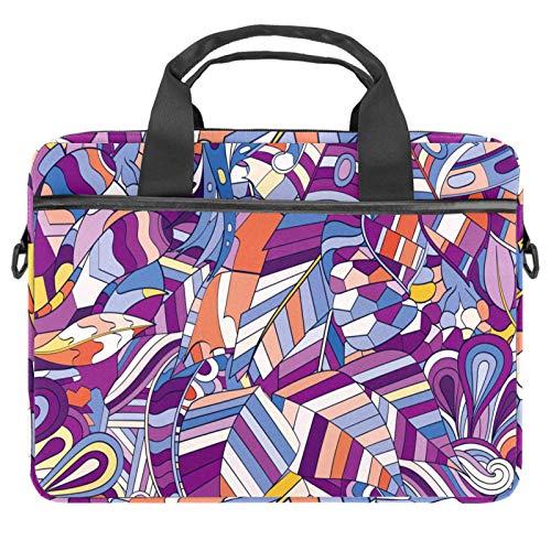 Bolsa para portátil con asa de 13,4 a 14,5 pulgadas, diseño abstracto de pelotas de fútbol