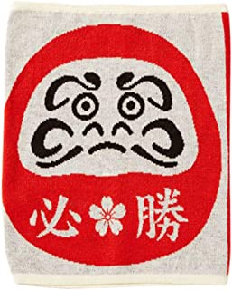 Kaya Japanese Haramaki Stomach/Body Warmer Belt Certain Victory Daruma Doll Design M Size Red/Grey